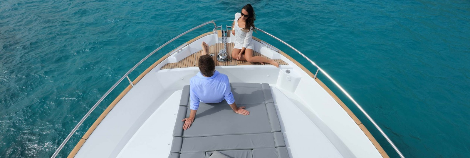 Beneteau Swift Trawler 50 bow sun bed