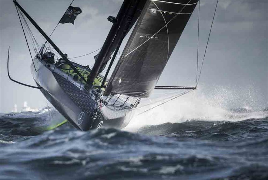 60ft Foiling Boat - Hugo Boss - Development of Foiling Sailboats - Ancasta