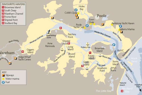 poole harbour map