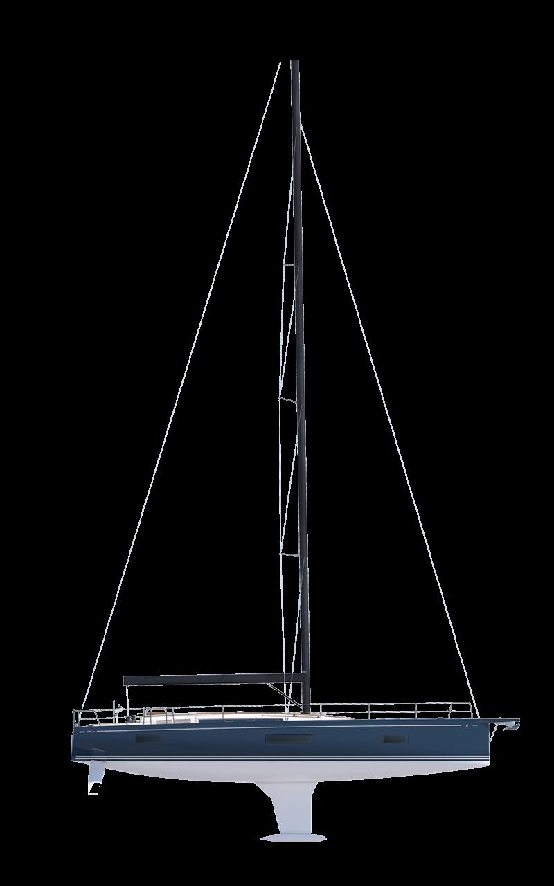Beneteau Yacht Range Line Drawing