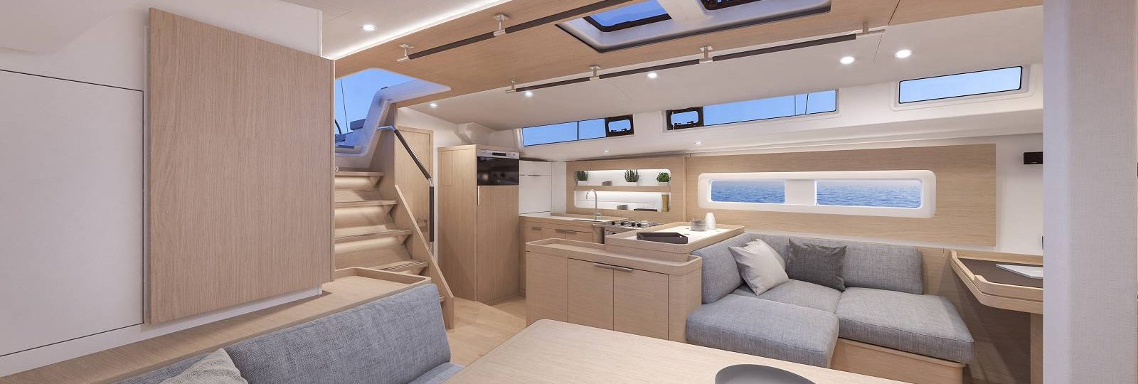 Beneteau Oceanis Yacht 54 saloon