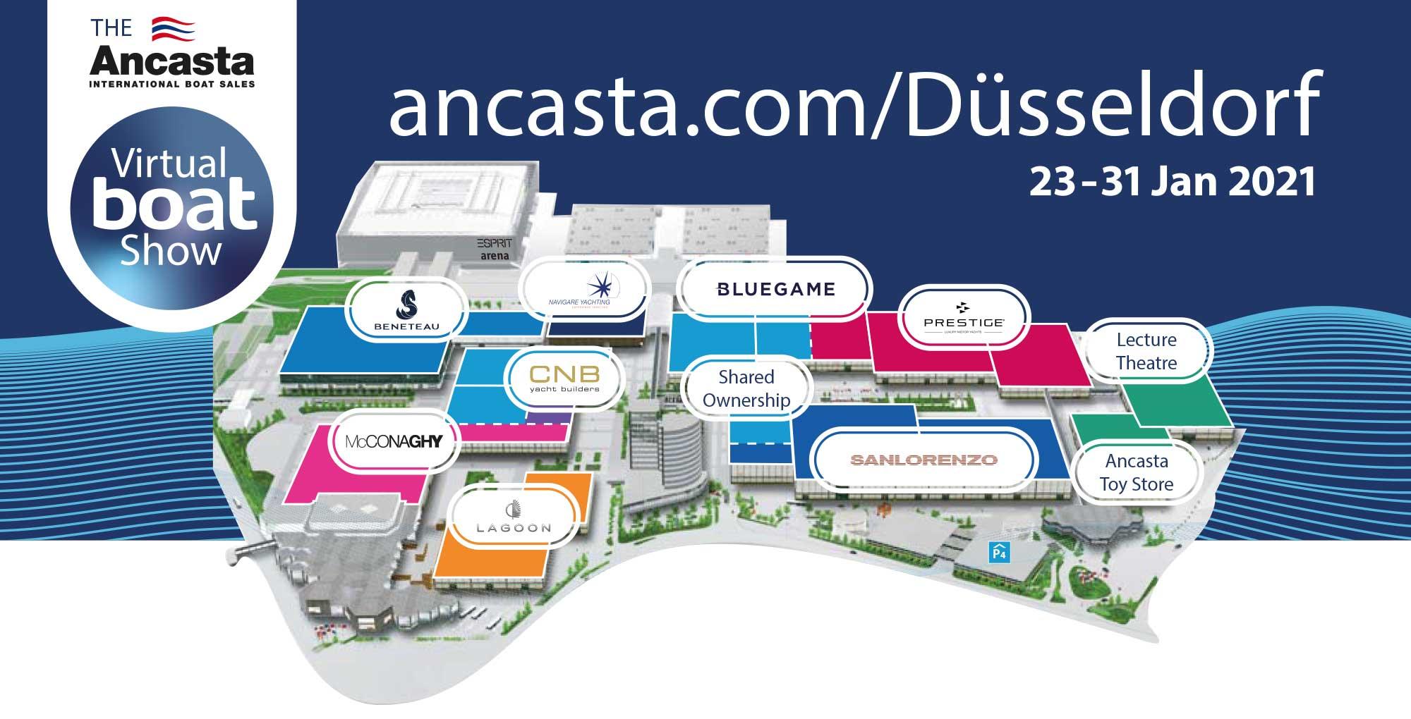 Virtual boat show dusseldorf map