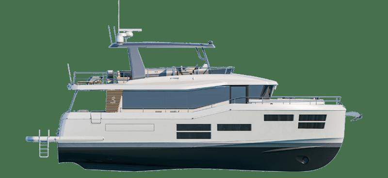 Beneteau Grand Trawler Range Line Drawing